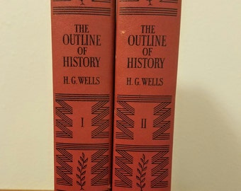 H.G. Wells The Outline of History-Two Volume Set