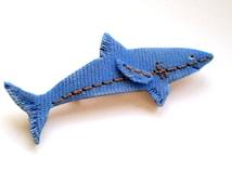 Shark brooch Shark lapel pin Shark pin Jeans style Fishing pin Denim style jewelry Jean clothes pin Jeans jewelry Jeans art Denim jewelry