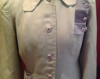 1940's Vintage Ladies Gabardine  Fitted Jacket / fashioned by MISS HOPE.