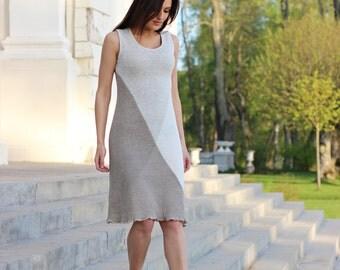 Knitted linen dress