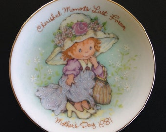 Cherished Moments Last Forever Mother's Day 1981 Avon Collector Plate