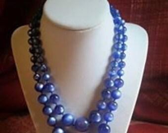 vintage double strand necklace