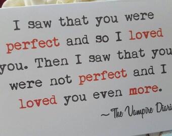 Vampire Diaries Quote Card
