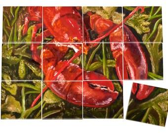 Lobster Ceramic Mural
