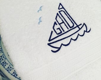 Sailboat Towel Set Special Intro Event Pricing