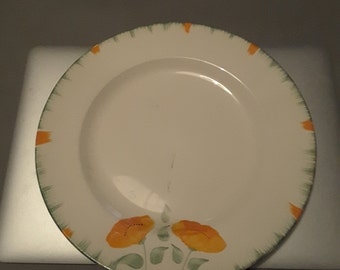 1930s Hand Painted Plate