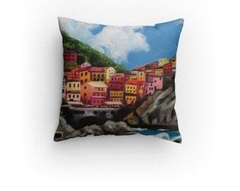 Cinque Terre, Decorative Pillow