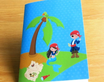Pirate Notebook. Ideal Stocking filler, Pirate Party Bag filler, Pirate Birthday, Pirate Christmas present