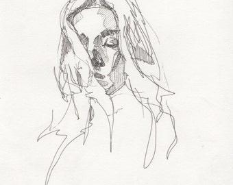 Original pen sketch 5