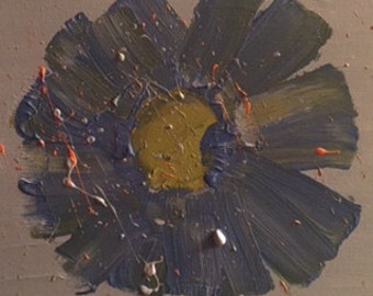 the exploding flower painting on canvas