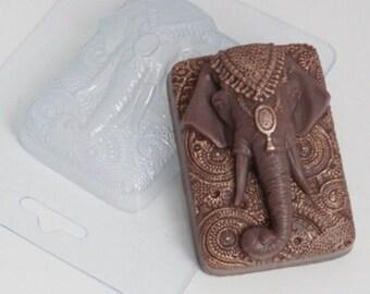 Indian elephant - plastic soap mold soap making soap mould molds soap mold