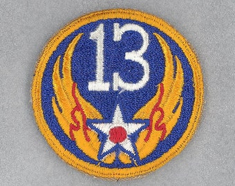 American WWII 13 Air Force  Shoulder Insignia