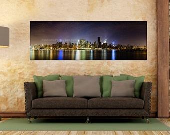 New York City Photograph, New York City Skyline art, New York City canvas art, New York City Skyline, NYC Skyline, Night Art, Manhattan art