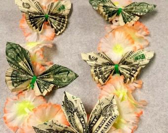 2 Dollar Bill Graduation Lei, Money Lei ~~~ FREE SHIPPING!!!