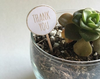 Thank You Favor Tags | Cupcake Toppers | Wedding Favors | Plant Markers | Bridal Shower | Baby Shower