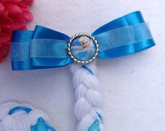 Elsa Frozen Inspired Coastume. Yarn Braid Hair Clip