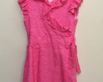 Girls Size 6 Wrap Dress