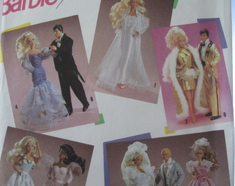 Pattern Simplicity Barbie and Ken 7362 (1990)