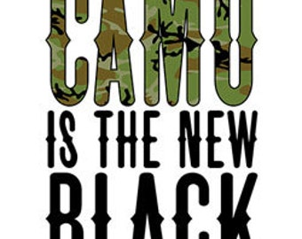 Camo is the new Black Printed Tee Shirt