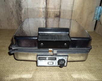 Vintage GE General Electric 4 Square Waffle Baker Iron & Griddle Model A1G48T