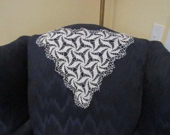 Large White Cotton Crochet Doily