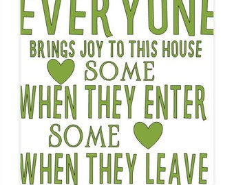 Funny wall decor. Wall sign. Joy and laughter wall sign. Funny home decoration.