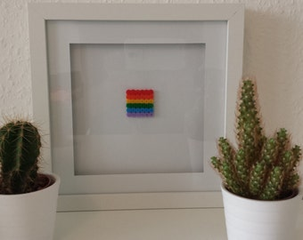 Rainbow flag in the 3D picture frame