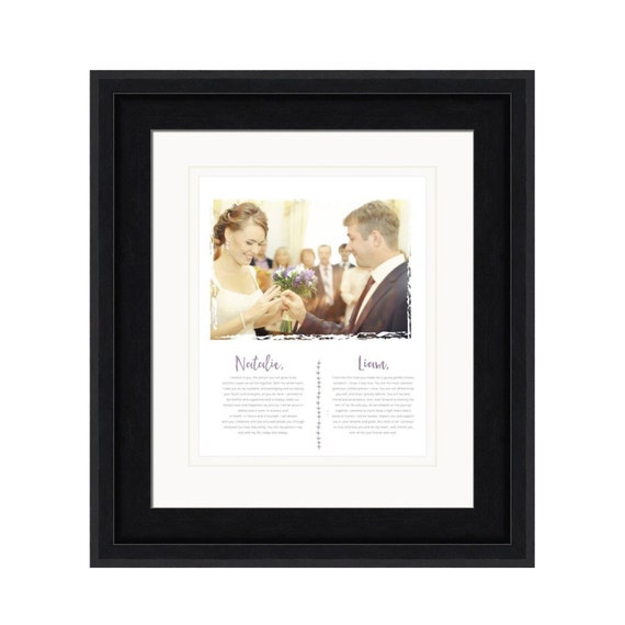 Framed Wedding Vows Wedding Vow Art Wedding Vows Print