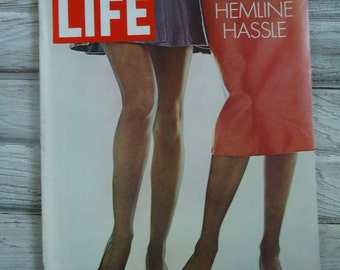 Fashion 1970 Life Magazine - Vintage Life Magazine - Vintage Hemline - Female Legs - Life Magazine - Retro Advertising - Female decor - Art