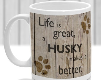 Husky dog mug, Husky dog gift, ideal present for dog lover