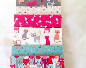Makower fat quarter bundle, Cats Collection