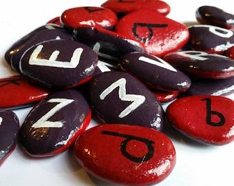 Handpainted alphabet stones