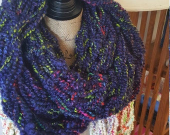 Purple soft infinity scarf