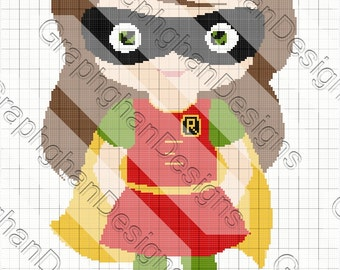 Girl Robin Graphghan Pattern - Graph Pattern