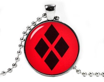 Harley Quinn Necklace Pendant Harley Quinn Diamonds Fandom Jewelry Cosplay Fangirl Fanboy