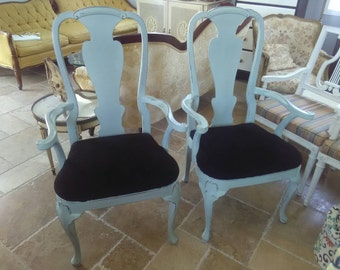 Pair of Vintage French Accent Arm Chairs