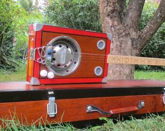 cigar box resonator guitar 4 strings