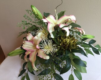 Floral arrangement, Centerpiece, Silk flower arrangement, Artificial arrangement, Silk Centerpiece