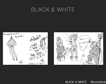 BLACK & WHITE  (Art Book By DomoNoise)