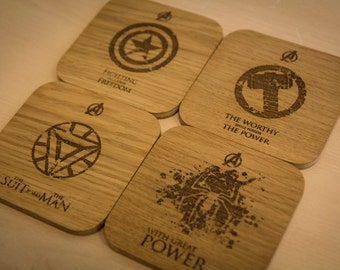 Marvel Comics The Avengers Inspired Drinks Coasters - Set of Four