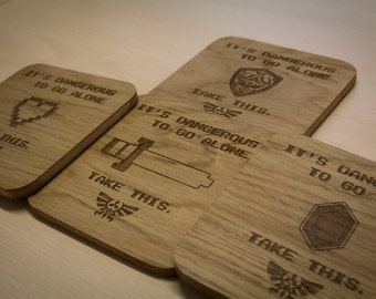 Legend of Zelda Inspired Drinks Coasters - Set of Four
