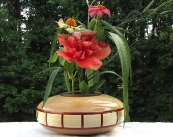 Ikebana Vase in Maple and Bloodwood
