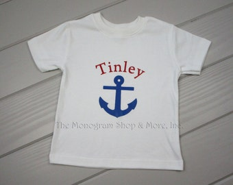 Personalized Children's Anchor T-Shirt / Monogrammed Children's T-Shirts  / Anchor Toddler T Shirt / Personalized T-Shirt / Toddler Gifts