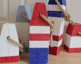 Vintage Style Wooden Lobster Buoys