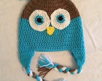 Owl hat, girl hat, Christmas gift idea, stocking stuffer, winter hat, birthday gift