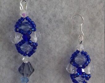 Crystal and Seed Bead Earrings