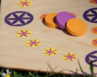 PROMO NYOUT craft wood, Indigo energy creations, mandala sacred geometry child original anniversary gift game