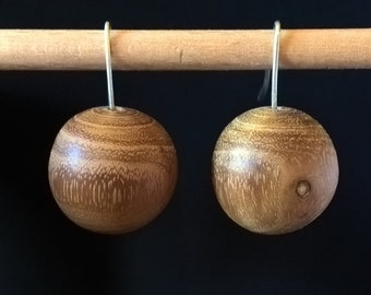 acacia and Silver earrings