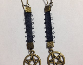 Dangly Pentagram Earrings