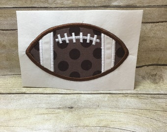 Football Applique Design, Football Embroidery Design Applique